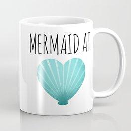 Mermaid At Heart  |  Teal Coffee Mug