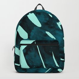 watercolor leaf tropical fashion Backpack