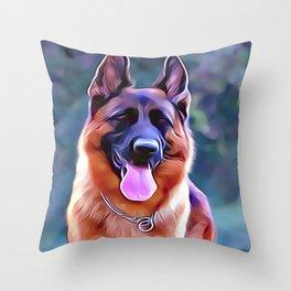 Saddle Coat German Shepherd Throw Pillow
