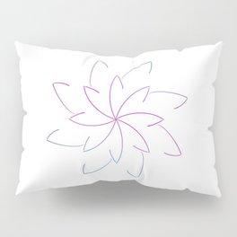 Ombre Lotus Outline Pillow Sham