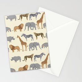 Safari animal minimal modern pattern basic home dorm decor nursery safari patterns Stationery Cards
