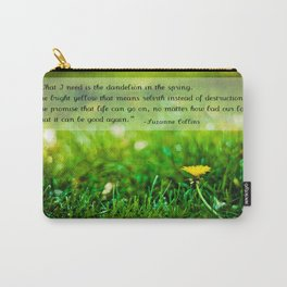 The Hunger Games Dandelion Quote  Carry-All Pouch
