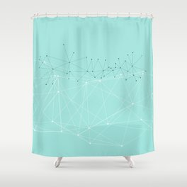 LIGHT LINES ENSEMBLE IX TURQUOISE Shower Curtain