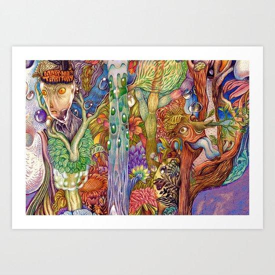 Head nature (Details) Art Print