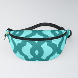Grille No. 2 -- Cyan Fanny Pack