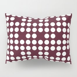 White dots on burgundy red Pillow Sham