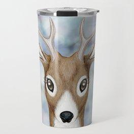 white-tailed deer woodland animal portrait Travel Mug