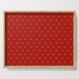 Maritime small Nautical Red and White Anchor Pattern 1 - Anchors Serving Tray