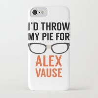 alex vause iPhone & iPod Cases featuring I'd Throw My Pie for Alex Vause by Zharaoh
