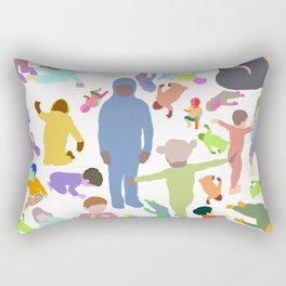 Color shape crowd Rectangular Pillow