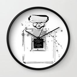 Black Perfume Wall Clock