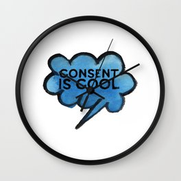 Consent Is Cool Wall Clock