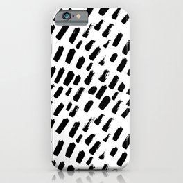 Dashing Darling - Black and White iPhone Case