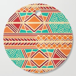 Tribal ethnic geometric pattern 027 Cutting Board
