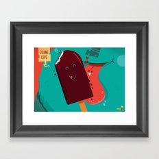 :::Licking Love::: Framed Art Print