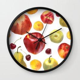 Watercolor frut Wall Clock