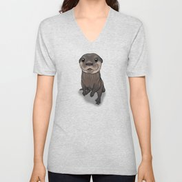 Otter Cuteness Unisex V-Neck