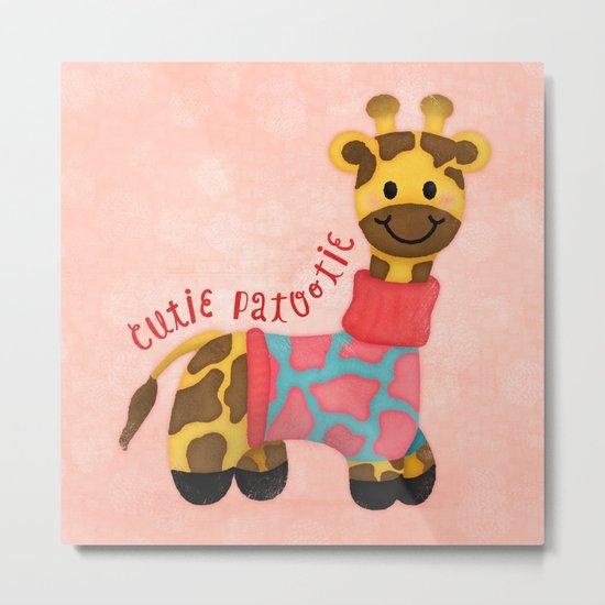 Cutie Patootie Giraffe Metal Print