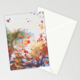. Orange Leaves . Stationery Cards