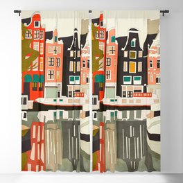shapes houses of Amsterdam Blackout Curtain