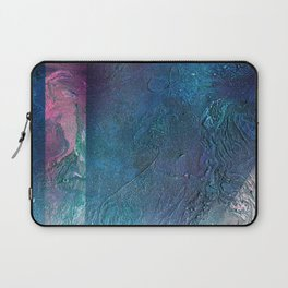 Atmosphere // blue magenta abstract textural painting, modern Laptop Sleeve