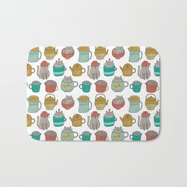 Pattern Project #5 / Cats and Pots Bath Mat