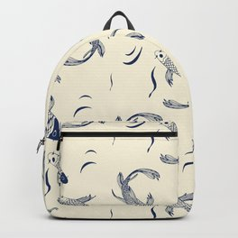 Japanese Koi Fish Pattern Backpack
