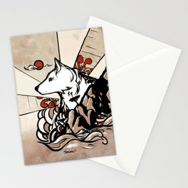 Wolf Ukiyo-e Stationery Cards