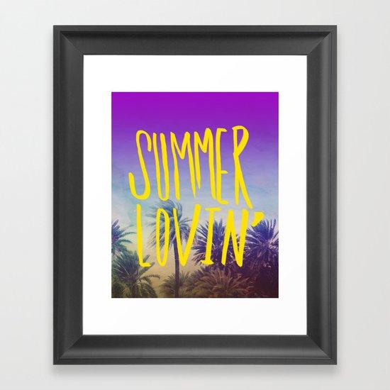 Summer Lovin' Framed Art Print
