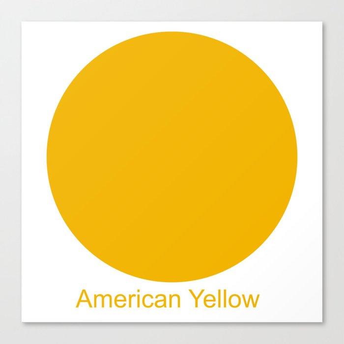 American Yellow Canvas Print