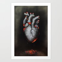 My Scorched Heart Art Print