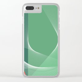 """garden lover"" geometrical minimal green art Clear iPhone Case"