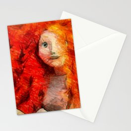 brave RedHead  Stationery Cards