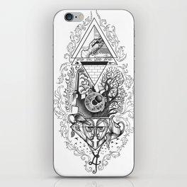 Tattoo music tribute to PinkFloyd iPhone Skin