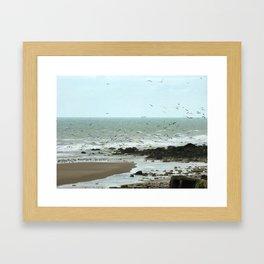 Calais beach, French. Framed Art Print