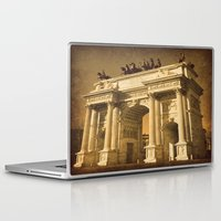 lee pace Laptop & iPad Skins featuring Arco della Pace Milan by Louisa Catharine Photography And Art