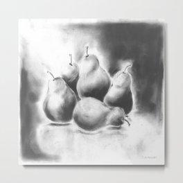 Pairs of Pears Metal Print