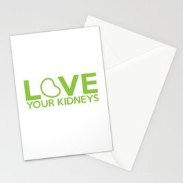 Love Your Kidneys Stationery Cards