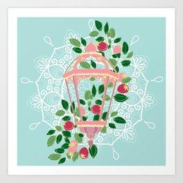 Pink Lantern Art Print
