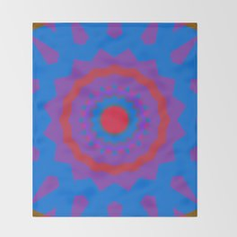Flower Flare by Kimberly J Graphics Throw Blanket