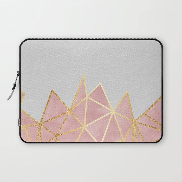Pink & Gold Geometric Laptop Sleeve