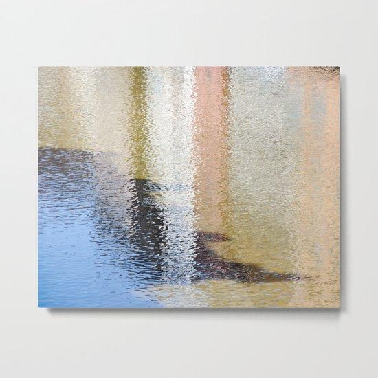 Light and Shadow Reflections (City Walks) Metal Print