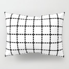 Dotted Grid Black on White Pillow Sham
