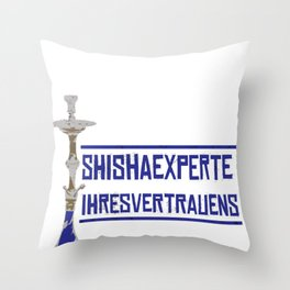 Shisha Hookah Sheesha Lounge Bar Smoke Vabor Gift Throw Pillow