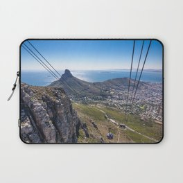 Cable car going up Table Mountain in Cape Town, South Africa Laptop Sleeve