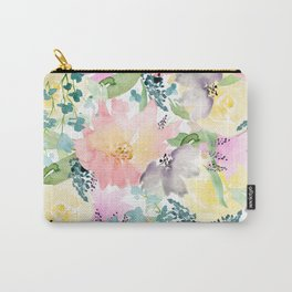 Soft Floral Wildflowers Carry-All Pouch