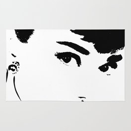 Audrey Simply Beautiful in Black and white Rug