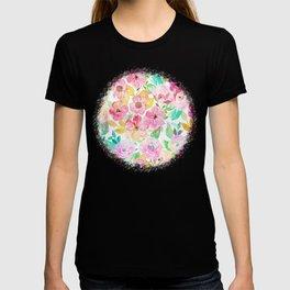 Classy watercolor hand paint floral design T-shirt