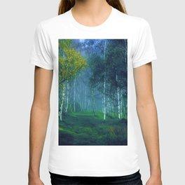 White Birch Forest, New England Landscape T-shirt