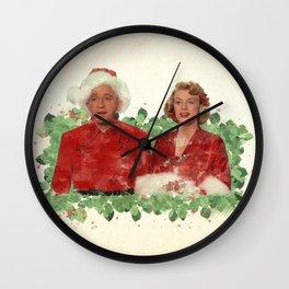 Bob & Betty (White Christmas) Wall Clock